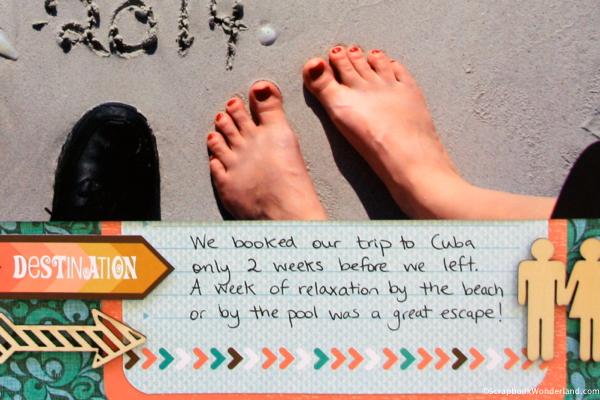 Cuba vacation scrapbook sneak peek