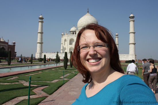 Selfie of Alice at the Taj Mahal in India