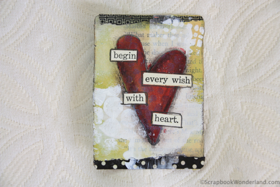 heart card by Alice begin every wish