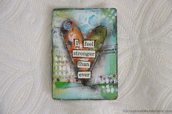 heart card by Alice i feel stonger