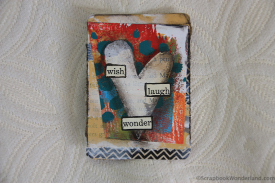 heart card by Alice wish laugh wonder