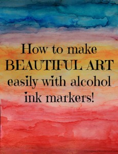 How to make beautiful art easily with alcohol ink markers.