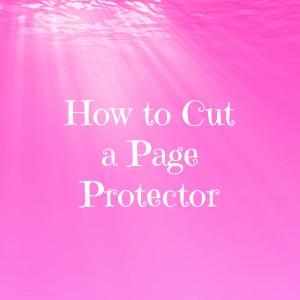 VIDEO! How to cut a page protector for interactive scrapbook layouts, like the Pull Me Surprise!
