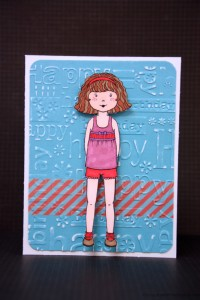 Paper doll card and gift in one!