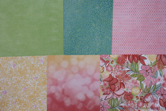 Brushed patterned paper from Close to My Heart. Using a kit makes combining patterns easy.