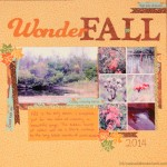 WonderFALL Scrapbook Layout and Tutorial