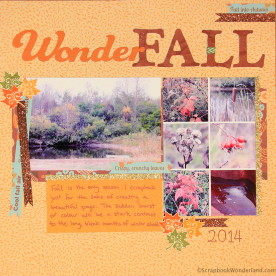 Create a WonderFALL layout and don't miss the photo tutorial for creating softly crinkled die cuts!