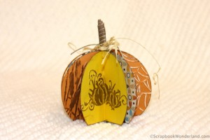Easy to make paper pumpkin decoration. You won't believe how simple it is!