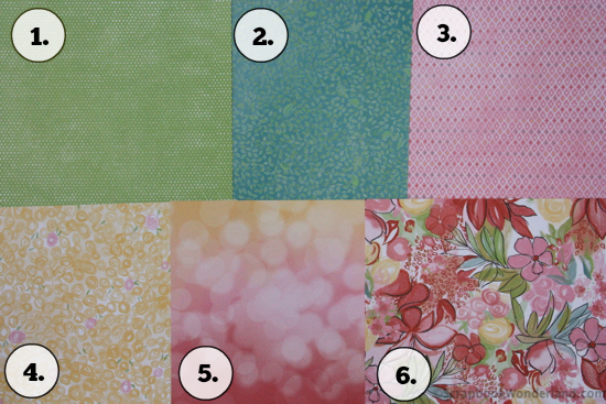 patterned paper picking