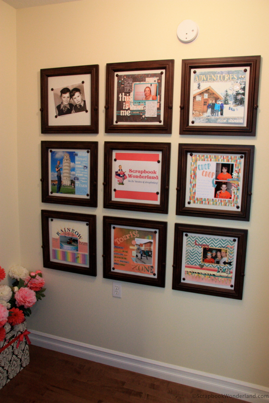 Create a scrapbook gallery to display your layouts and share them with family.