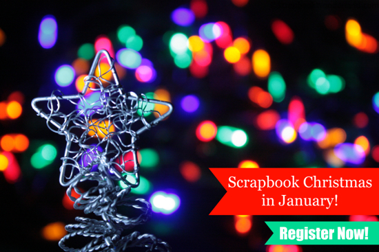 Scrapbook Christmas the EASY WAY with this new class! Scrapbook in January, but save all the details in December… easy instructions.