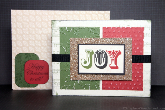 Create a simple and elegant Christmas card easily with this video tutorial and directions.