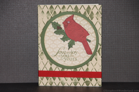 Love and Joy Christmas Card using CTMH products.