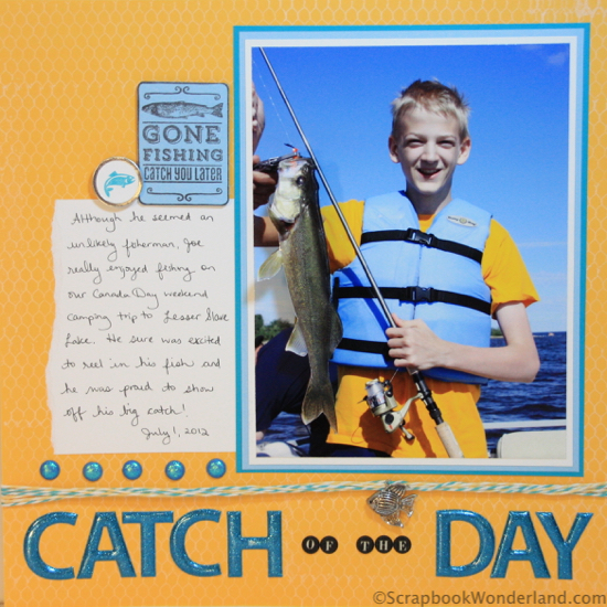Catch of the Day layout Alice Boll LOAD215 Day 24 Full