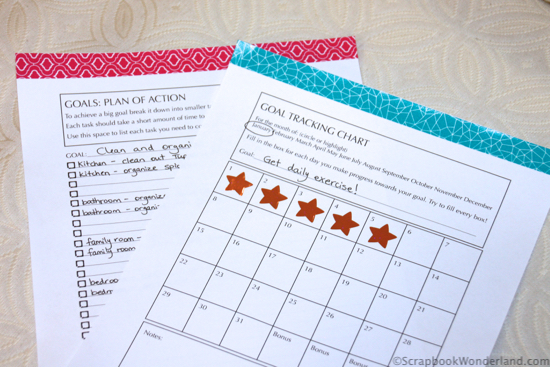 goal planning sheets image