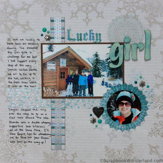 Scrapbooking Winter Activities and Hobbies: lots of examples! Snowshoeing