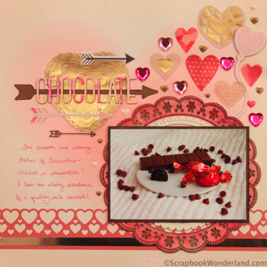 chocolate decadence layout image