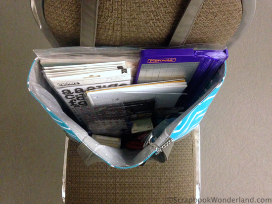 scrapbooking on the go whats in the tote
