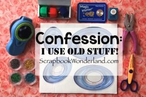 Confession I use old stuff image