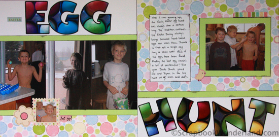 egg hunt layout double page