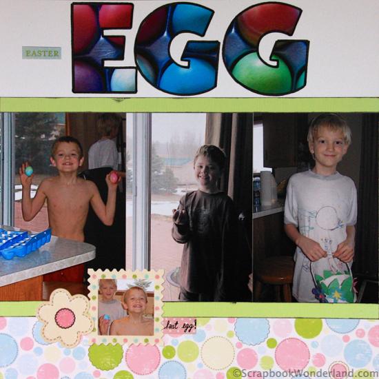 egg hunt layout left page