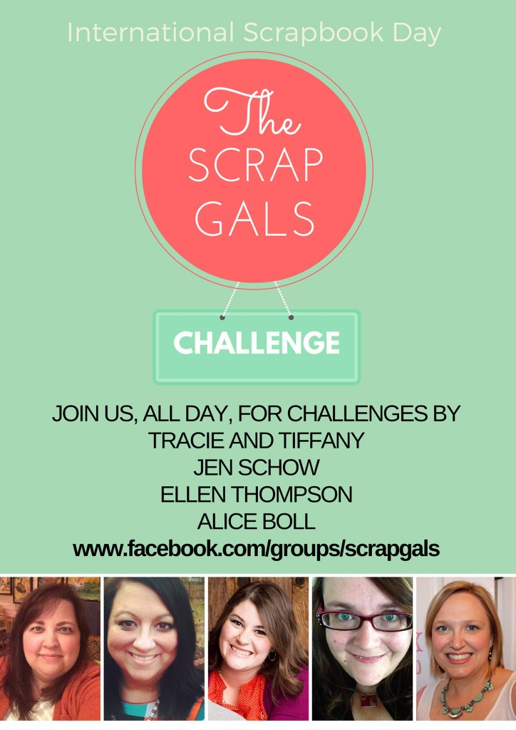 International scrapbooking day with the Scrap Gals promo