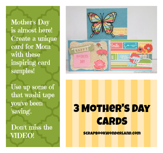 Create stunning Mother's Day cards with these three examples and a VIDEO too!