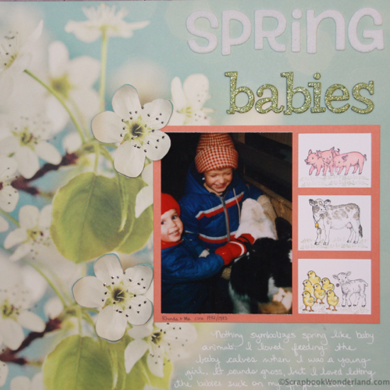 Spring babies layout image