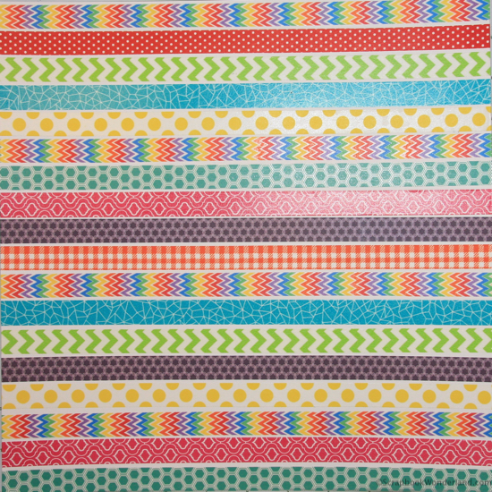 Create your own background or patterned paper easily with washi tape!