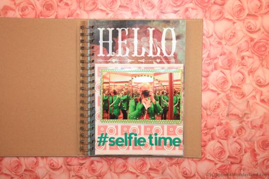 selfie album project #scrapbooking