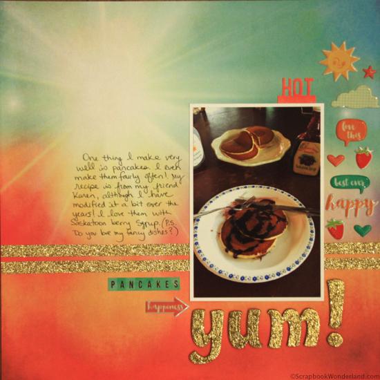 pancakes yum layout image