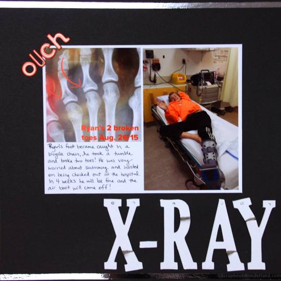 x-ray scrapbook layout image