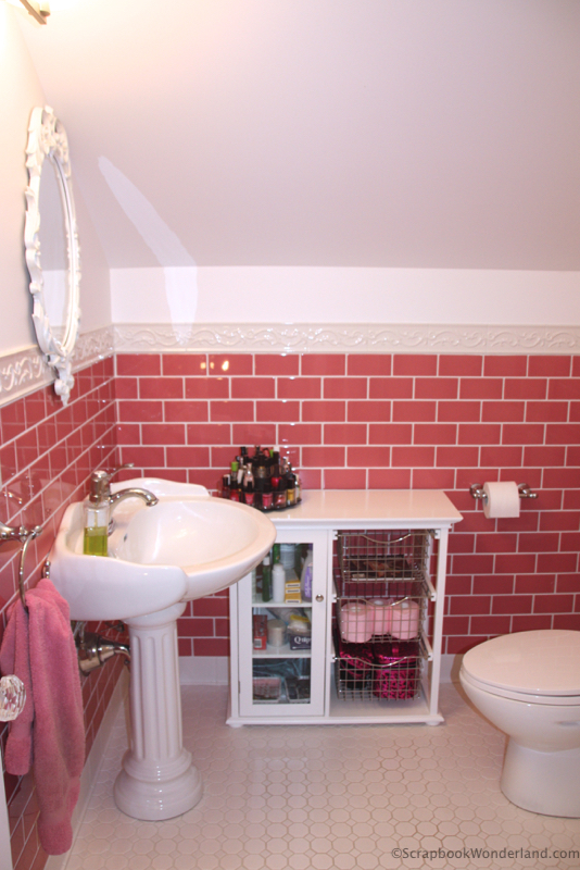 scrapbook room bathroom