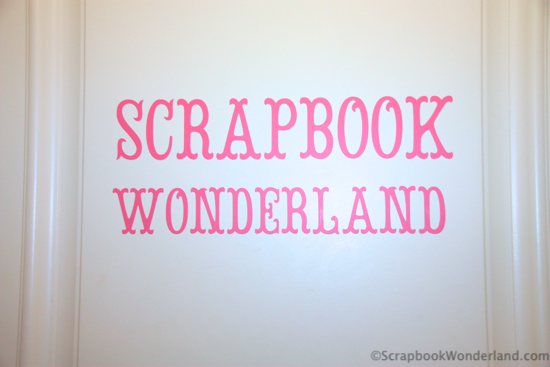 scrapbook room door