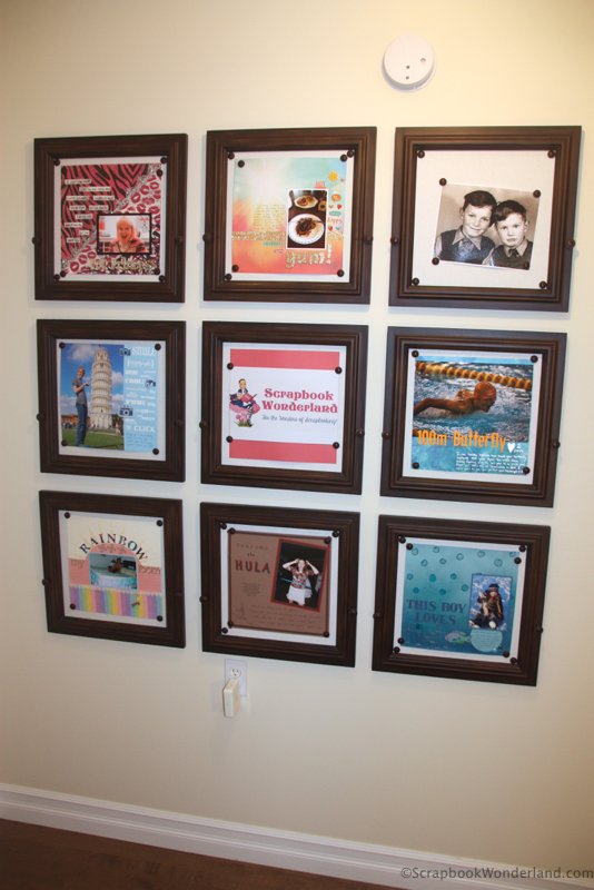 scrapbook room gallery wall