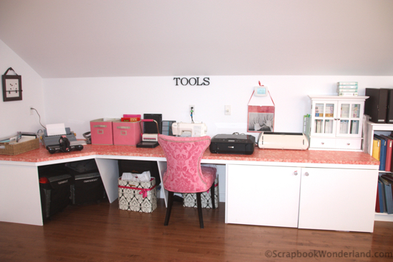scrapbook room tool station