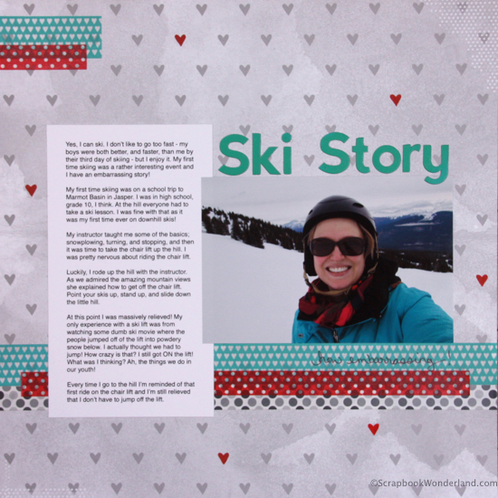 ski story layout image