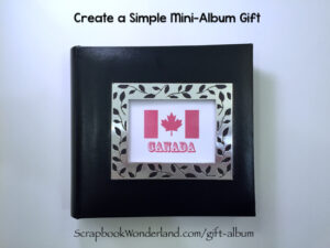 Create a simple mini album gift