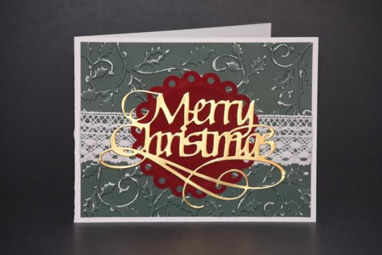 flat merry christmas card image