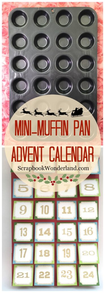 Mini muffin pan advent calendar image