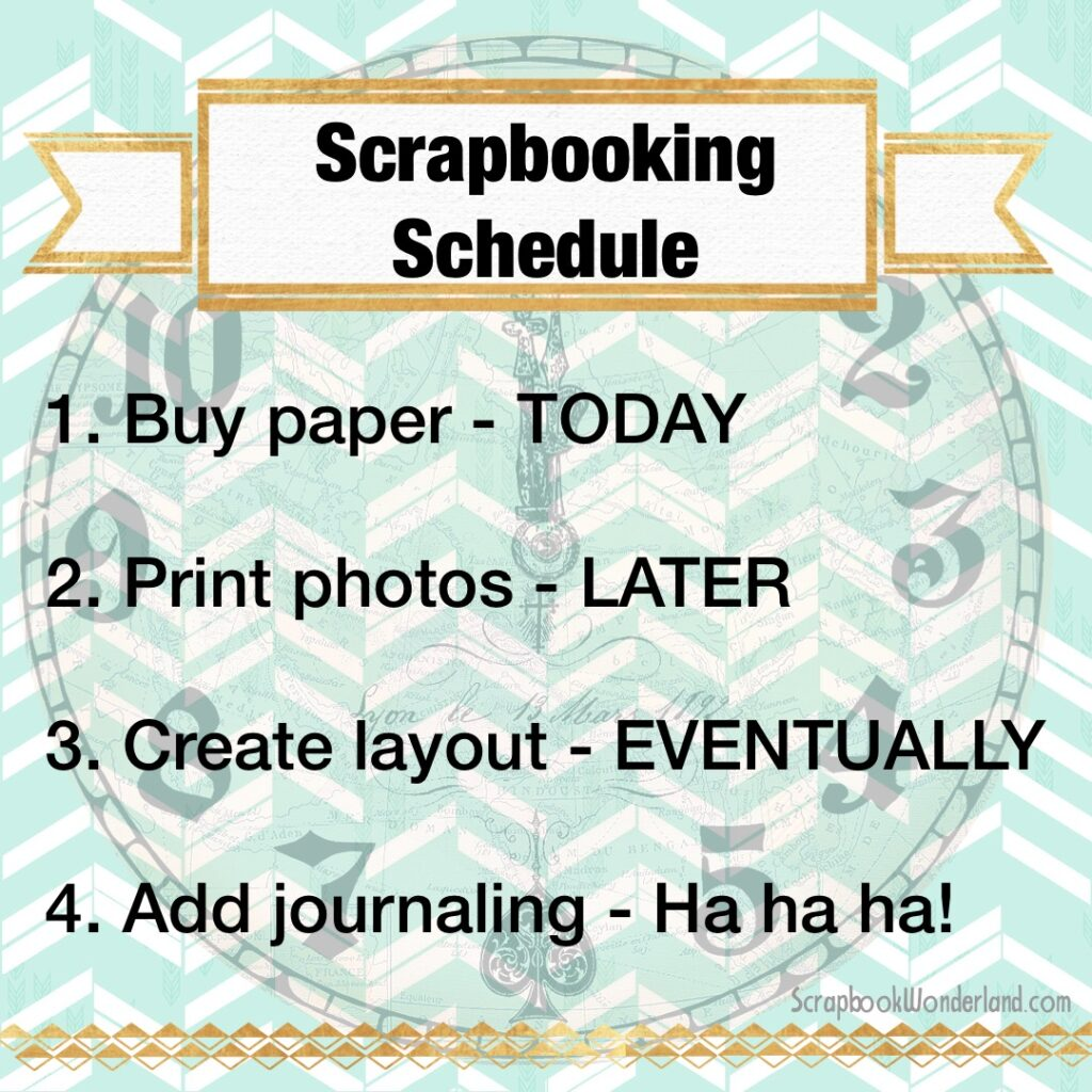 fun Scrapbooking Schedule