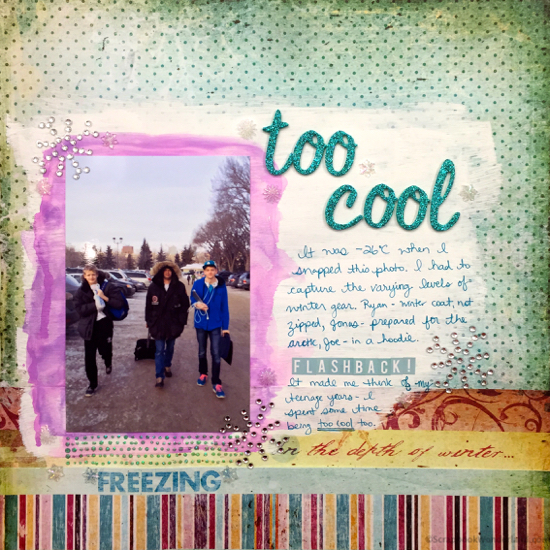 too cool flashback layout image