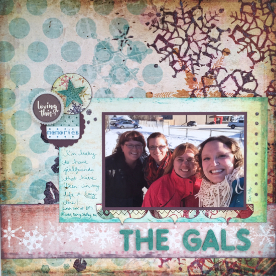 The Gals layout winter theme
