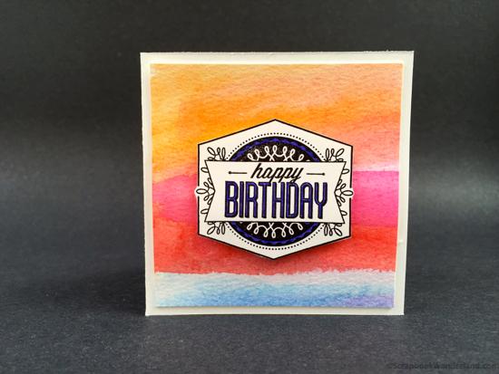 watercolour birthday card multi