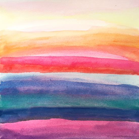 watercolour multicoloured paper