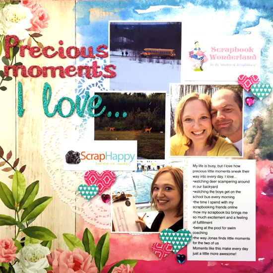 LOAD516 Alice Boll Day 1 precious moments #websters pages #scrapbooking