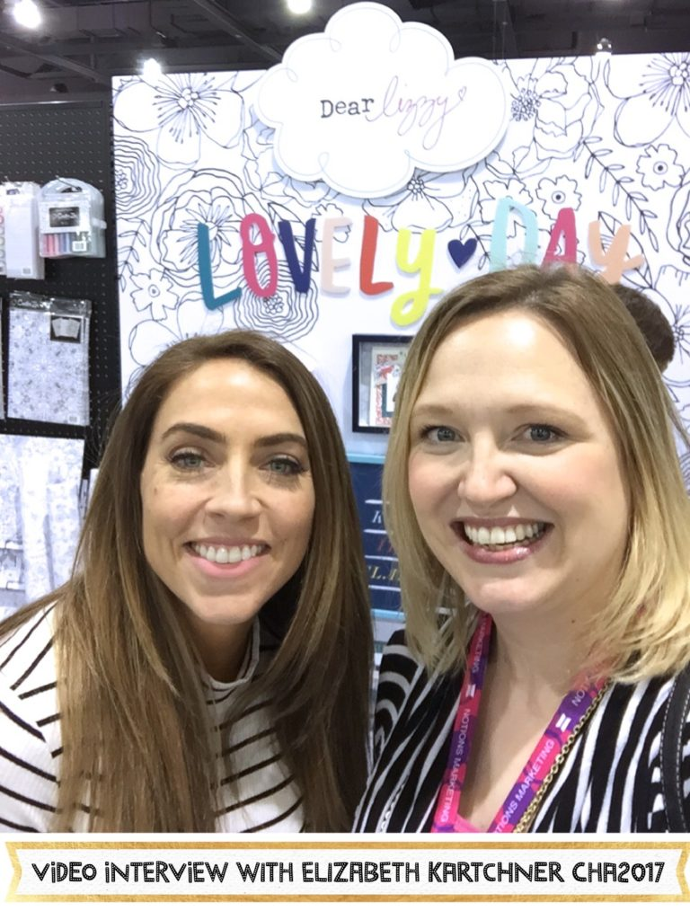 Elizabeth Kartchner from Dear Lizzy shows her new collection Lovely Day at CHA2017 Creativation. #cha2017 #creativation #lovelyday #dearlizzy #elizabethkartchner #scrapbooking #aliceboll #scrapbookwonderland #scraphappy