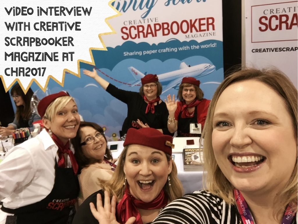 Creative Scrapbooker Magazine gives us the update from their booth at CHA2017 #scrapbooking #scrapbookmagazine #creativescrapbooker #cha2017