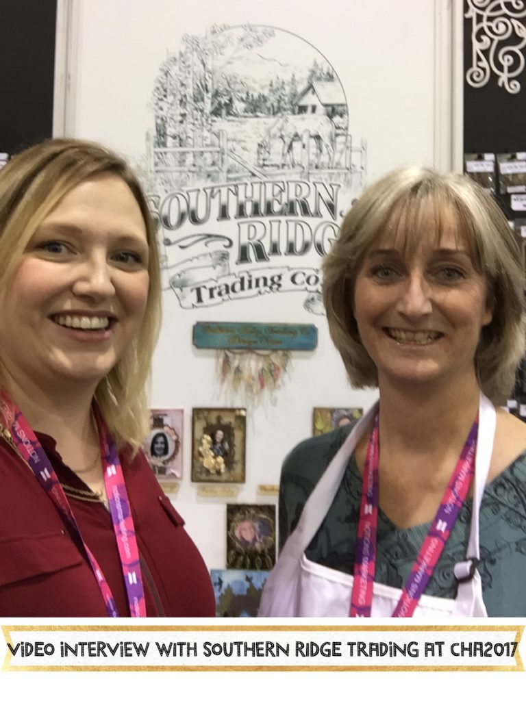 Chat with Karen from Southern Ridge Trading Co. at her CHA2017 Creativation booth about her laser cut chipboard, templates and wood veneers. #creativation #cha2017 #lasercut #scrapbooking #pocketscrapping #woodveneer #chipboard #templates #aliceboll #scraphappy #scrapbookwonderland