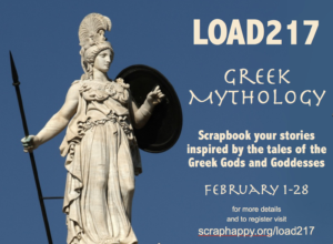LOAD217 Greek Mythology, take the layout a day challenge and scrapbook every day in February! #load217 #layoutaday #scrapbooking #digiscrap #pocketscrap